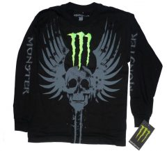Monster Energy Platinium Tribal póló, férfi